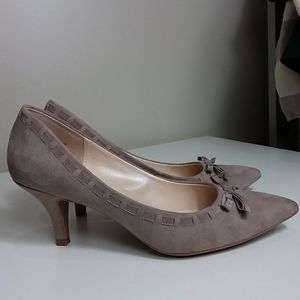 Kelly & Katie Nude Faux Suede Pumps Sz 9